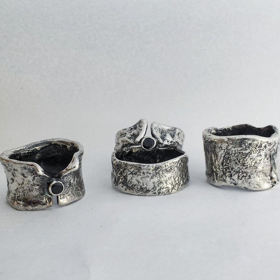 grote zilveren ring