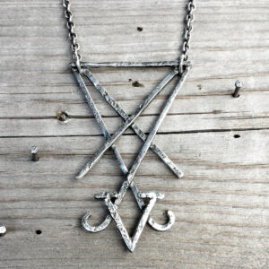Handcrafted Lucifer Sigil necklace pendant by Atelier Maureen Centen