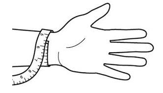 bracelet sizing illustration