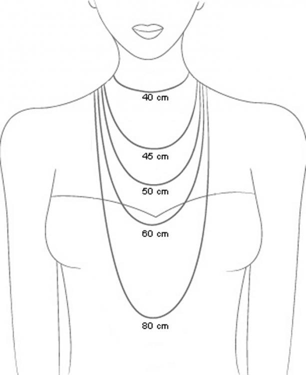 necklace sizing illustration