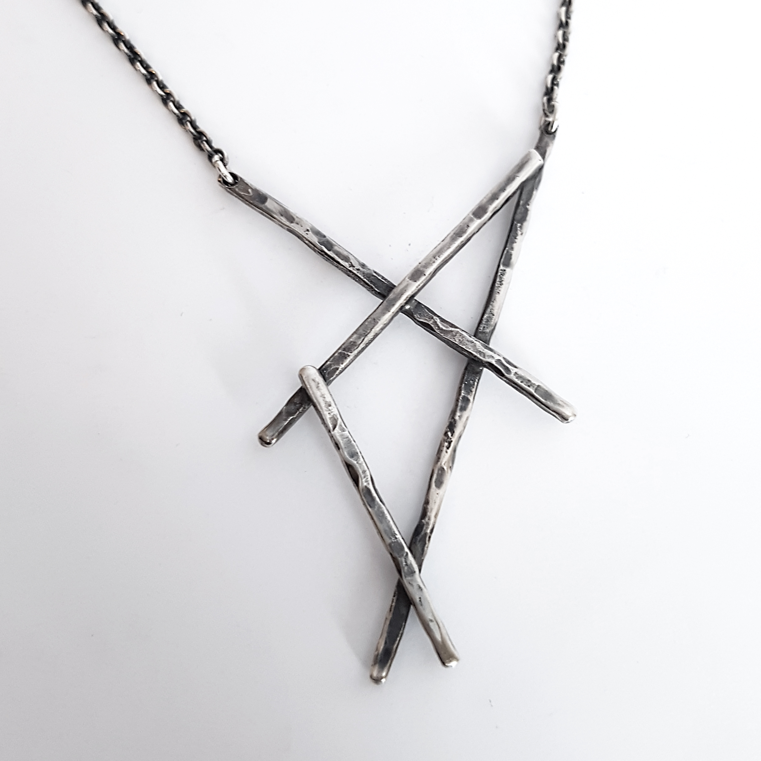 warrior product silver found isla necklace
