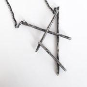 Warrior pentagram necklace RAW oxidized by Atelier Maureen Centen