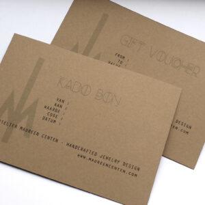 Gift card by Atelier Maureen Centen